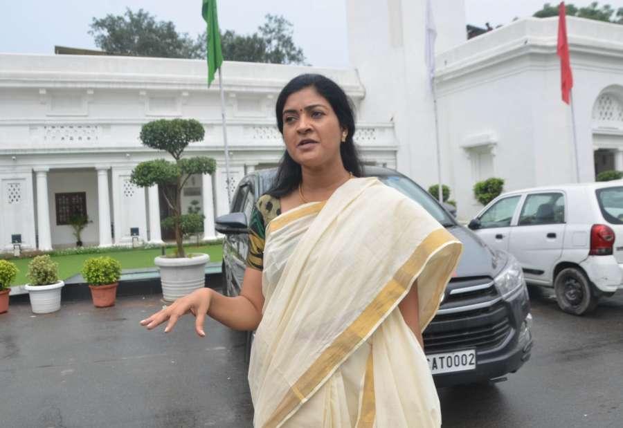 New Delhi: AAP MLA Alka Lamba at Delhi Assembly in Aug 23, 2019. (Photo: IANS) by .