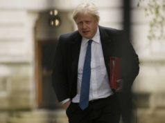 LONDON, May 2, 2018 (Xinhua) -- British Secretary of State for Foreign and Commonwealth Affairs Boris Johnson heads to 10 Downing Street for a Brexit cabinet meeting in London, Britain, on May 2, 2018. British Prime Minister Theresa May held a Brexit meeting with select cabinet ministers here on Wednesday. (Xinhua/Tim Ireland/IANS) by .