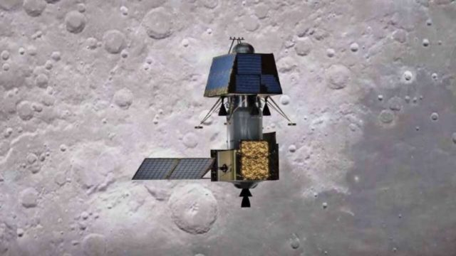 Chennai: India's first moon lander Vikram successfully separated from its mother spacecraft Chandrayaan-2 on Monday at 1.15 a.m., said Indian Space Research Organisation (ISRO). According to ISRO, the Vikram Lander is currently located in an orbit of 119 km x 127 km. The Chandrayaan-2 Orbiter continues to orbit the Moon in its existing orbit. (Photo: IANS) by .