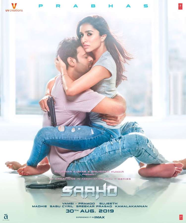 "Poster of Shraddha Kapoor and Prabhas starrer ""Saaho"". by ."