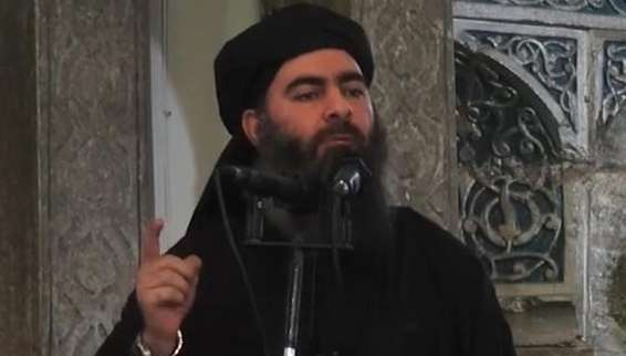 IS leader Abu Bakr Al-Baghdadi by .