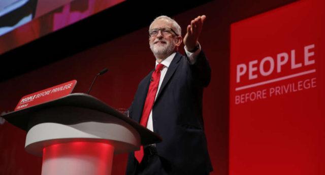 (国际)(1)英国工党领袖科尔宾在工党年会发表主旨演讲 by Han Yan.