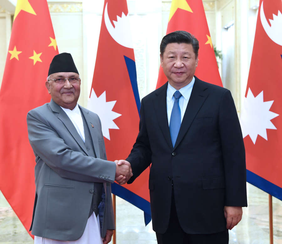 CHINA-BEIJING-XI JINPING-NEPAL-PM-MEETING (CN) by .