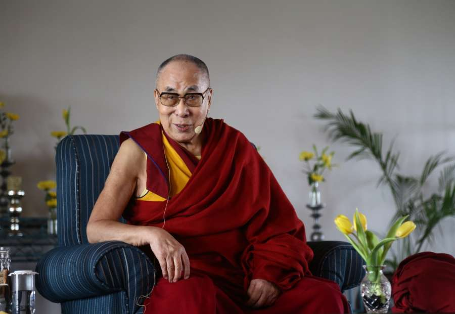 New Delhi: Tibetan spiritual leader the Dalai Lama during an interactive session in New Delhi on Sep 21, 2019. (Photo: Bidesh Manna/IANS) by .