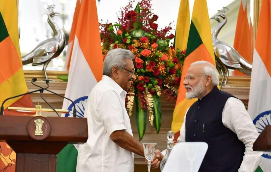 Gotabaya Rajapaksa,Narendra Modi by .