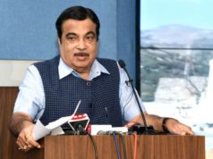 New Delhi: Union Road Transport and Highways and Micro, Small and Medium Enterprises Minister Nitin Gadkari addresses at the renaming ceremony of Chenani Nashri Tunnel as Dr. Shyama Prasad Mookerjee Tunnel, in New Delhi on October 24, 2019. (Photo: IANS/PIB) by .