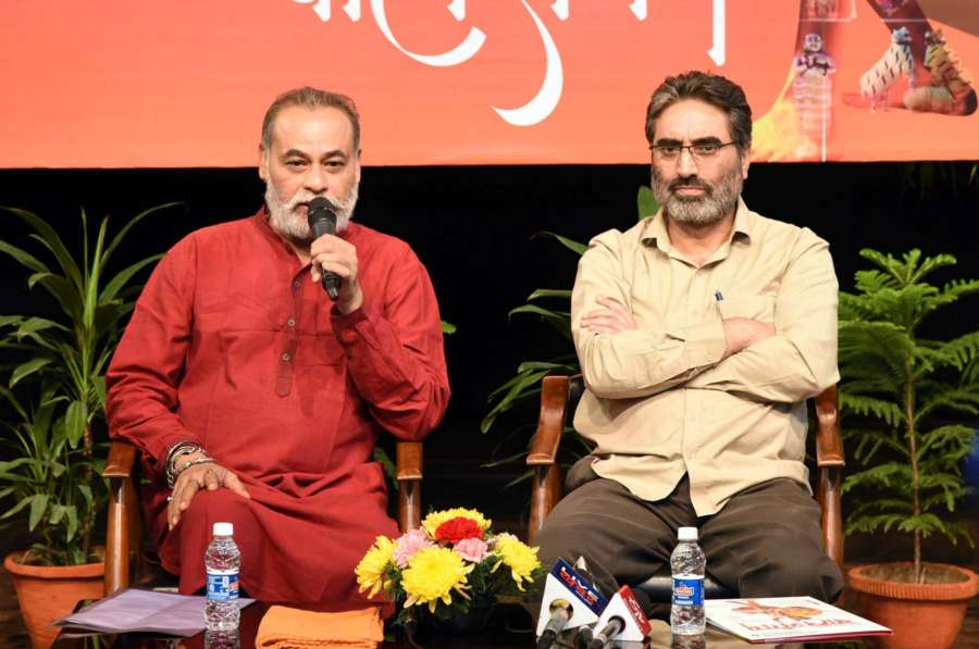 New Delhi: National School of Drama (NSD) Acting Chairman Arjun Deo Charan and Director in charge Suresh Sharma hold a press conference on 'Bal Sangam 2019', in New Delhi on Nov 6, 2019. (Photo: IANS/PIB) by .