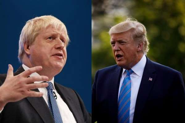 US President Donald Trump and UK Prime Minister Boris Johnson. by .