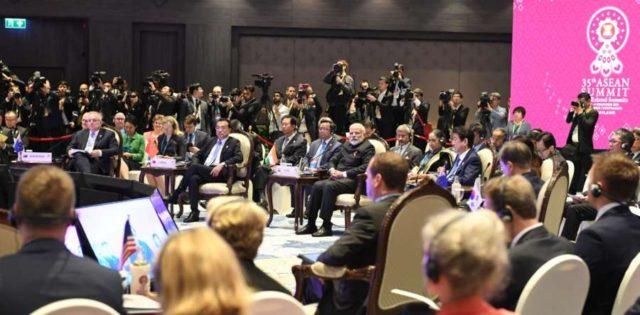Bangkok: Prime Minister Narendra Modi at the 14th East Asia Summit in Bangkok, Thailand on Nov 4, 2019. (Photo: IANS/PIB) by .