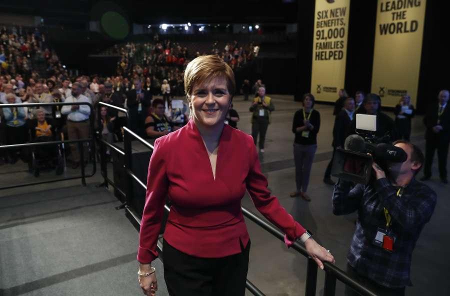 (国际)(1)苏格兰政府首席大臣:苏格兰将留在欧洲共同市场 by .