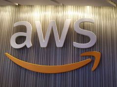 AWS logo. by .