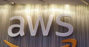 AWS logo. by .