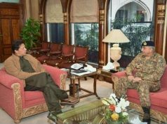 Pakistan Prime Minister Imran Khan and Pakistan Army chief General Qamar Javed Bajwa. by .