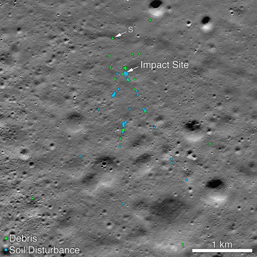 NASA released a picture taken before Vikram moonlander crashed on the moon shows the area with the soil undisturbed. The picture was used for comparison with pictures taken after the crash to determine the crash site. (Photo: NASA Goddard/Arizona State Univ.) by .