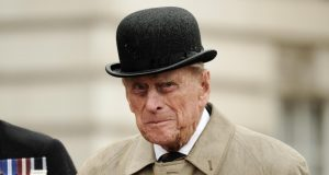 LONDON, Aug. 3, 2017 (Xinhua) -- Britain's Prince Philip, Duke of Edinburgh, reacts as he attends a parade in the role of Royal Marines' Captain General for the last time at Buckingham Palace in London, Britain on Aug. 2, 2017. Prince Philip, husband of Queen Elizabeth II, carries out his final solo public engagement Wednesday before he retires from royal duties. (Xinhua/Pool/IANS) by .