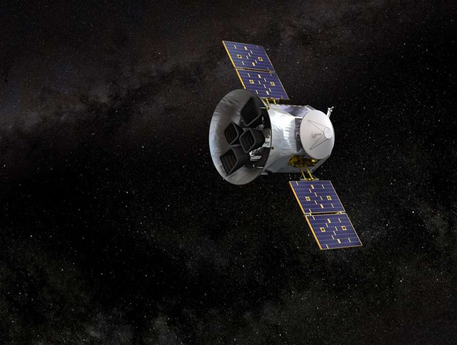 An illustration of NASA's transiting exoplanet survey satellite TESS. (Photo: NASA's Goddard Space Flight Center) by .