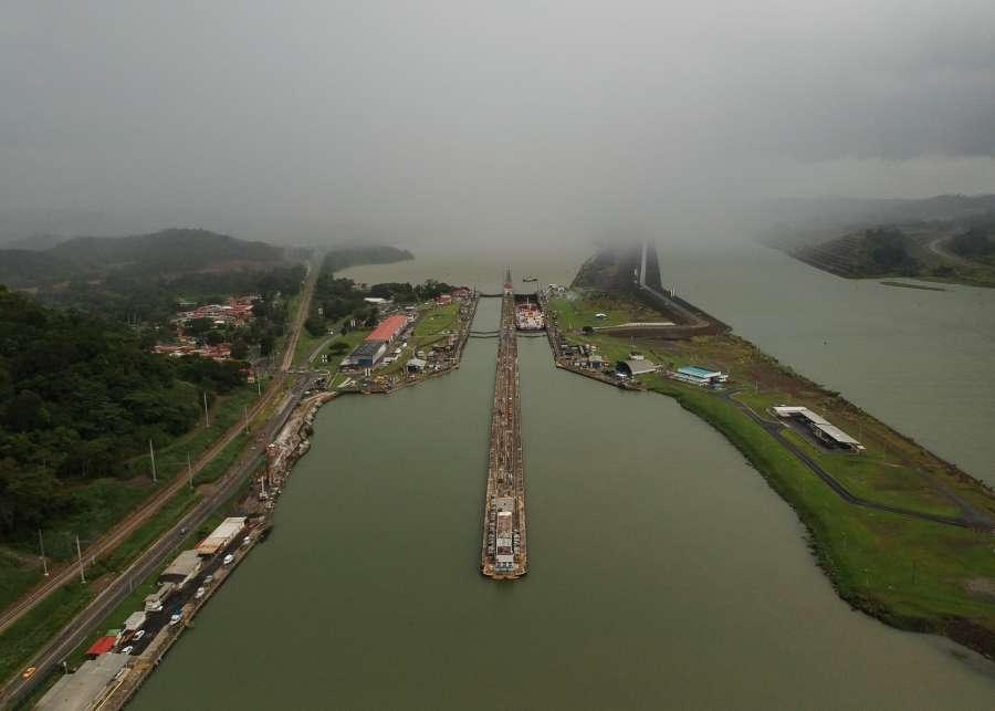 PANAMA-PANAMA CANAL-PEDRO MIGUEL LOCKS by .