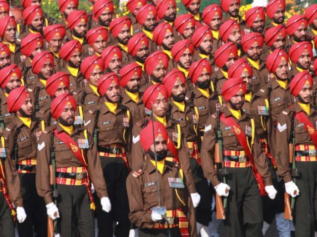 New Delhi: Indian Army's Sikh regiment marches on Rajpath during 2019 Republic Day Parade in New Delhi on Jan 26, 2019. (Photo: Amlan Paliwal/IANS) by .