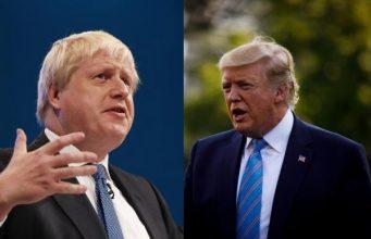 US President Donald Trump and UK Prime Minister Boris Johnson. by .
