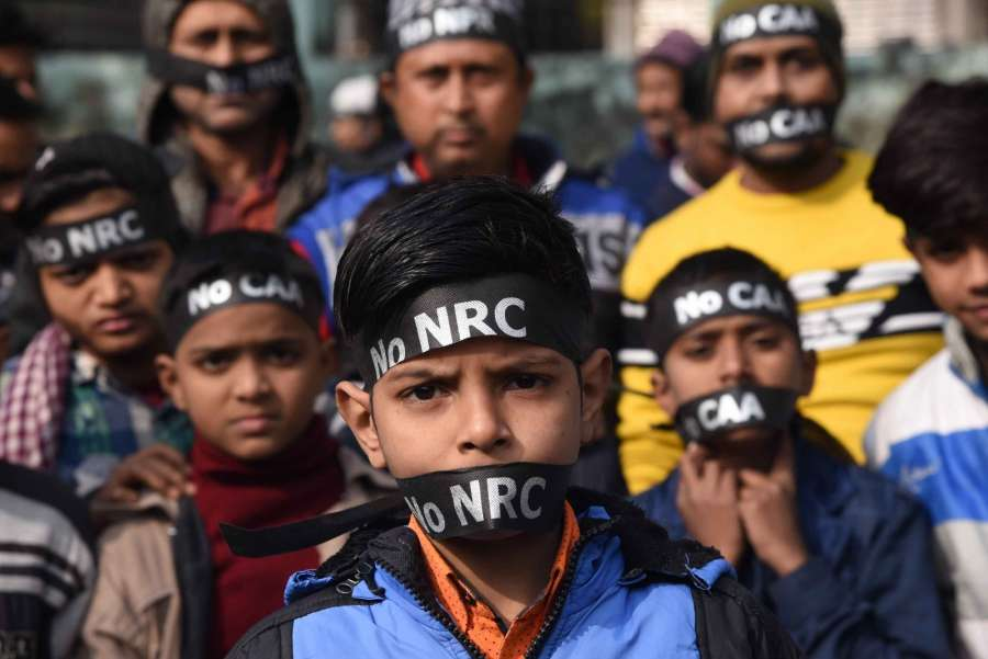 Patna: People participate in a protest rally against the Citizenship Amendment Act (CAA) and a proposed countrywide National Register of Citizens (NRC) in Patna on Dec 29, 2019. (Photo: IANS) by .