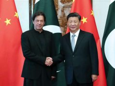 BEIJING, Oct. 9, 2019 (Xinhua) -- Chinese President Xi Jinping meets with Pakistani Prime Minister Imran Khan at the Diaoyutai State Guesthouse in Beijing, capital of China, Oct. 9, 2019. (Xinhua/Liu Weibing/IANS) by .