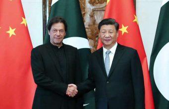 BEIJING, Oct. 9, 2019 (Xinhua) -- Chinese President Xi Jinping meets with Pakistani Prime Minister Imran Khan at the Diaoyutai State Guesthouse in Beijing, capital of China, Oct. 9, 2019. (Xinhua/Liu Weibing/IANS) by .