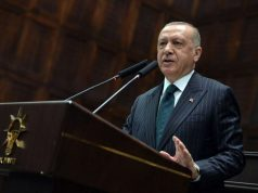"""ANKARA, June 25, 2019 (Xinhua) -- Turkish President Recep Tayyip Erdogan addresses lawmakers of the ruling Justice and Development Party (AKP) in Ankara, Turkey, on June 25, 2019. Recep Tayyip Erdogan on Tuesday vowed to learn lessons from """"the messages that given by people"""" in June 23 re-elections in Istanbul at which his ruling party suffered a historic blow. (Xinhua/Mustafa Kaya/IANS) by ."""