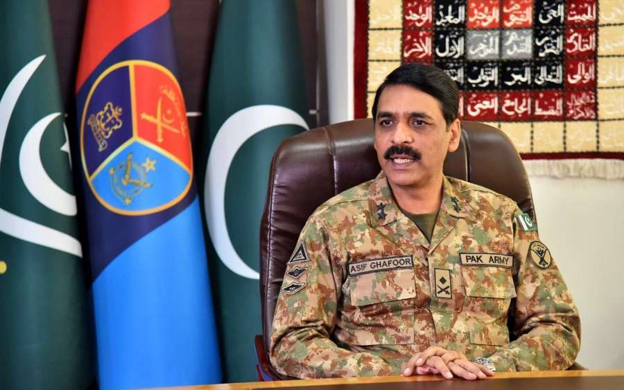 RAWALPINDI, May 17, 2019 (Xinhua) -- Photo provided by Inter-Services Public Relations (ISPR) shows Major General Asif Ghafoor, director general of ISPR, speaks during an interview with Chinese media in Rawalpindi, Pakistan on May 16, 2019. The China-Pakistan Economic Corridor (CPEC) is a living example of the deep-rooted friendship between the two countries and Pakistan is fully determined to ensure the security of the project, Pakistani military spokesperson said on Thursday. (Xinhua/Inter-Services Public Relations/IANS) by .