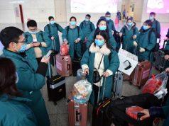 ZHENGZHOU, Jan. 26, 2020 (Xinhua) -- Members of a medical team gather at Zhengzhou East railway station in Zhengzhou, central China's Henan Province, on Jan. 26, 2020. A team comprised of 137 members from five medical institutions in Henan left Zhengzhou for Wuhan on Sunday to aid the coronavirus control efforts there. (Xinhua/Li Jianan/IANS) by .