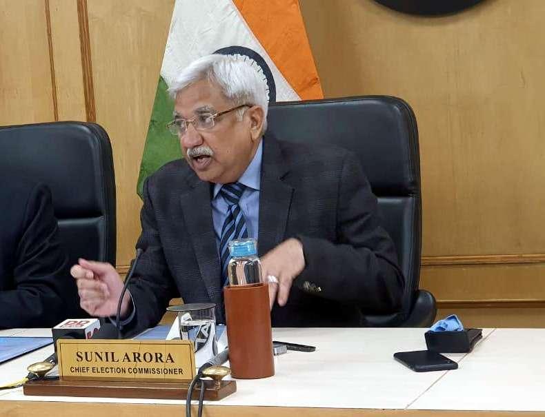 New Delhi: Chief Election Commissioner Sunil Arora addresses a press conference in New Delhi on Jan 6, 2020. (Photo: IANS) by .