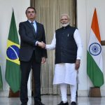 New Delhi: Prime Minister Narendra Modi receives Brazilian President Jair Bolsonaro at Hyderabad House ahead of their delegation-level talks, in New Delhi on Jan 25, 2020. (Photo: IANS/MEA) by .