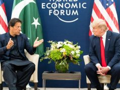 United States President Donald Trump, right, meets with Pakistan Prime Minister Imran Khan, left, at Davos, Switzerland, on Tuesday, January 21, 2020. (Photo: White Houe/IANS) by .