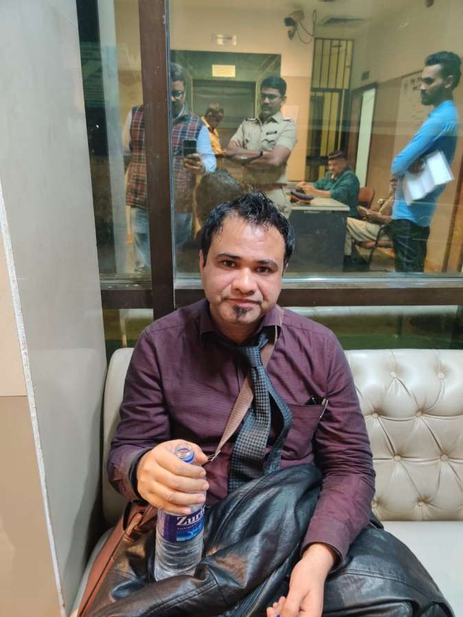 Mumbai: Gorakhpur-based doctor Kafeel Khan who was arrested by Special Task Force of UP Police from Mumbai on Wednesday for allegedly making an inflammatory speech on the controversial Citizenship Amendment Act at the Aligarh Muslim University on December 12, 2019. (Photo: IANS) by .