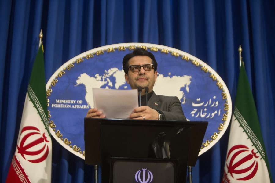 """TEHRAN, Jan. 6, 2020 (Xinhua) -- Iranian Foreign Ministry spokesman Abbas Mousavi attends a press conference in Tehran, Iran, on Jan. 5, 2020. Abbas Mousavi on Sunday criticized as """"unconstructive"""" some Europeans' stances over the recent U.S. assassination of a senior Iranian military commander. (Photo by Ahmad Halabisaz/Xinhua/IANS) by ."""