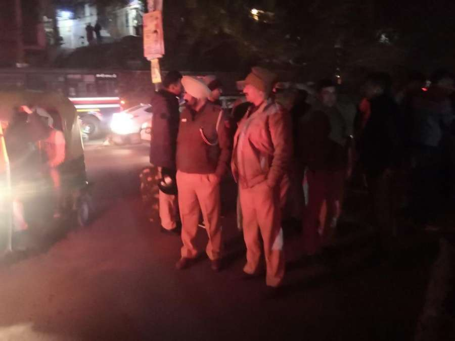 New Delhi: Police personnel deployed outside the JNU campus after Akhil Bhartiya Vidhayrthi Parishad (ABVP) has accused left inclined students of vandalising the Periyar hostel of Jawharlal Nehru University (JNU) and severely injuring various students present inside the hostel, in New Delhi on Jan 5, 2020. (Photo: IANS) by .
