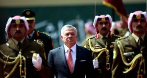 AMMAN, May 25, 2019 (Xinhua) -- Jordan's King Abdullah II (C) reviews the Royal Guard of Honor during the ceremony of the 73rd anniversary of the Independence of Jordan in Amman, Jordan, May 25, 2019. (Xinhua/Mohammad Abu Ghosh/IANS) by .