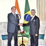 New Delhi: External Affairs Minister S. Jaishankar meets Brazilian President Jair Bolsonaro in New Delhi on Jan 25, 2020. The President, who is the Chief Guest in Sunday's Republic Day celebrations, reached Delhi on Friday on a four-day visit. (Photo: IANS/MEA) by .