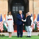 New Delhi: Prime Minister Narendra Modi receives US President Donald Trump and First Lady Melania Trump at the Hyderabad House in New Delhi on Feb 25, 2020. (Photo: IANS/MEA) by .