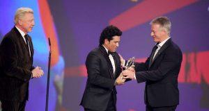 Tendulkar wins Laureus Sporting Moment Award for 2011 WC triumph by .