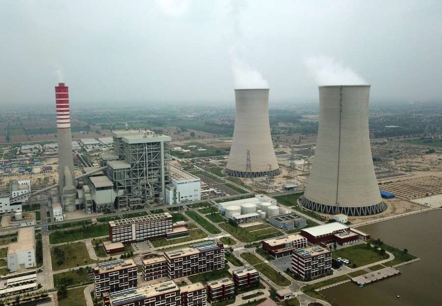 """SAHIWAL (PAKISTAN), Aug. 11, 2019 (Xinhua) -- The aerial photo taken on Aug. 6, 2019 shows the Sahiwal Coal Power plant in Sahiwal, Punjab Province, Pakistan. Power plants under the China-Pakistan Economic Corridor (CPEC) have improved livelihood of Pakistanis by helping the government overcome severe electricity shortage. TO GO WITH: """"Feature: CPEC power plant provides clean electricity, green environment to Pakistan"""" (Xinhua/Ahmad Kamal/IANS) by ."""