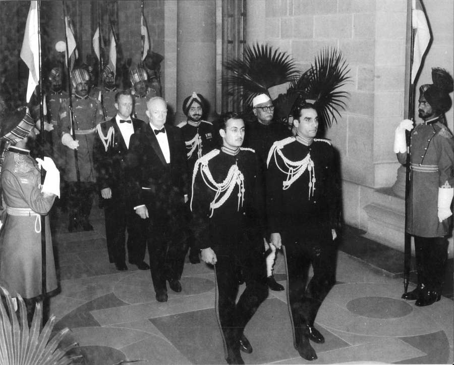 Dwight Eisenhower, the first United States president to visit India, was accompanied by India's President Rajendra Prasad to a State Dinner in at the Rashtrapati Bhavan in New Delhi on December 10, 1959. (Photo: US Embassy) by .