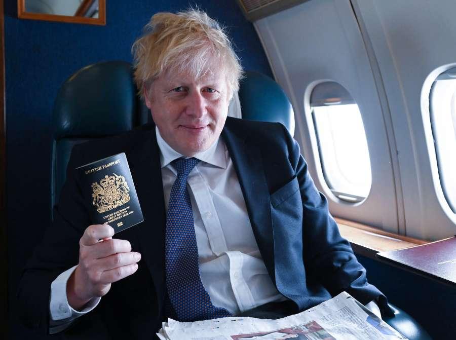 Boris Johnson new Blue Passports by .