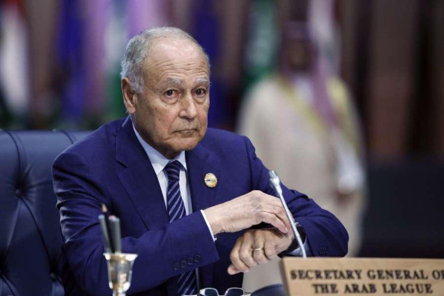 SHARM EL-SHEIKH (EGYPT), Feb. 24, 2019 (Xinhua) -- Arab League (AL) Secretary General Ahmed Aboul-Gheit attends the first League of Arab States (LAS)-EU Summit in Sharm el-Sheikh, Egypt, on Feb. 24, 2019. The first League of LAS-EU Summit started on Sunday in Egypt's Red Sea resort city of Sharm el-Sheikh, with the participation of more than 50 European and Arab countries. (Xinhua/Ahmed Gomaa/IANS) by .