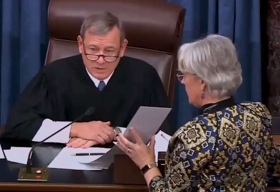 The United States Senate displays the results of the vote on summoning witnesses to the trial of President Donald Trump in the Senate on Friday, January 31, 2020. The motion to call witnesses proposed by Democrats was defeated 51-49. (Photo: Senate video) by .