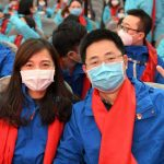 GUANGZHOU, Feb. 7, 2020 (Xinhua) -- Medical team members pose for a photo before leaving for Wuhan, at the First Affiliated Hospital of Sun Yat-sen University in Guangzhou, south China's Guangdong Province, Feb. 7, 2020. The hospital has sent a total of 150 medical workers in three batches to Wuhan to aid the novel coronavirus control efforts there. (Xinhua/Lu Hanxin/IANS) by .