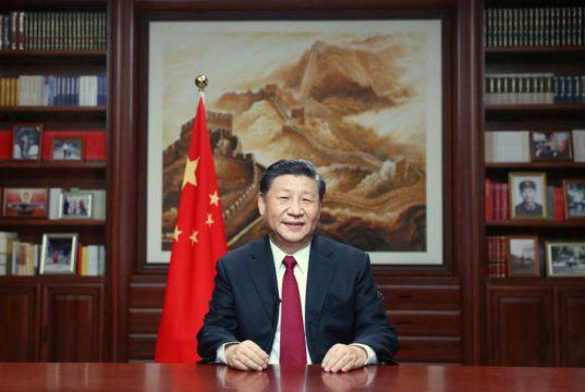 BEIJING, Dec. 31, 2019 (Xinhua) -- Chinese President Xi Jinping delivers a New Year speech Tuesday evening in Beijing to ring in 2020. (Xinhua/Ju Peng/IANS) by .
