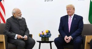 Osaka: Prime Minister Narendra Modi meets US President Donald Trump on the sidelines of the G-20 Summit, in Osaka, Japan on June 28, 2019. (Photo: IANS/PIB) by .