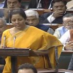New Delhi: Union Finance and Corporate Affairs Minister Nirmala Sitharaman presents the Union Budget 2020-21 in the Parliament, in New Delhi on Feb 1, 2020. (Photo: IANS) by .