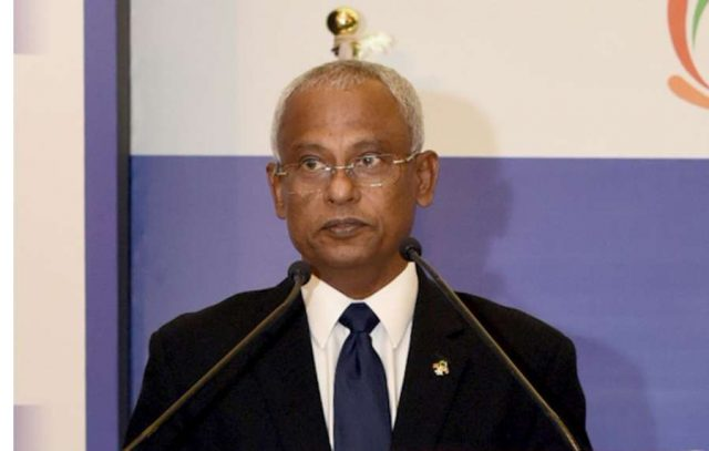 Ibrahim Mohamed Solih. (File Photo: IANS) by .