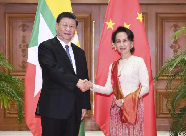 NAY PYI TAW, Jan. 18, 2020 (Xinhua) -- Chinese President Xi Jinping holds formal talks with Myanmar State Counsellor Aung San Suu Kyi in Nay Pyi Taw, Myanmar, Jan. 18, 2020. (Xinhua/Xie Huanchi/IANS) by .